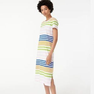 ✨🆕✨J CREW //T-shirt dress in stripe